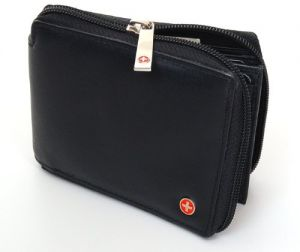 71a42eb5d55a4 Alpine Swiss Zippered Bifold Men s Wallet with Deluxe Credit Card Flip  Pocket Genuine Lambskin Leather Comes in a Gift Bag -Black