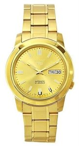 d096416d471e Seiko 5 Men s Automatic Gold Tone Stainless Steel Analog Gold Dial Watch   SNKK20J1 . by Seiko