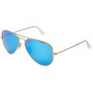 84ff1362c748 Ray-Ban Aviator Unisex Sunglasses - Matte Gold RB3025-112  55-17-140