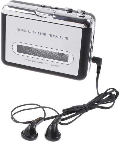 Tape to PC USB Cassette-to-MP3 Converter Capture Audio Music Player ,V345