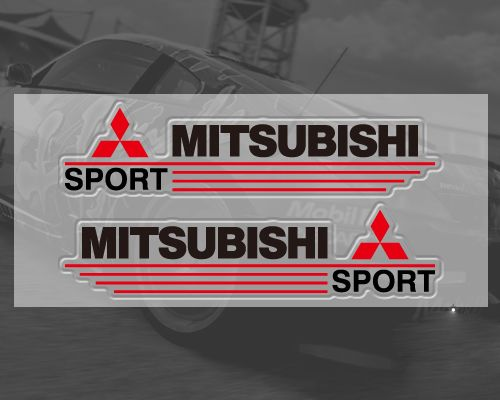 Mitsubishi Car Stickers Decal Logo Emblem Black Red Souq Uae
