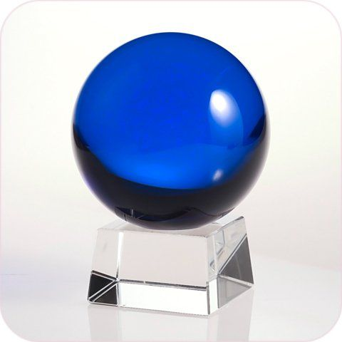 Blue Crystal Ball 50mm (2 in ) Including Crystal Stand and