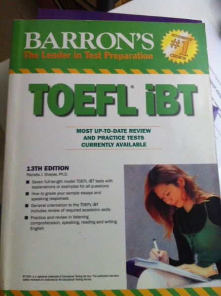 Toefl Ibt Barrons Book 13th Edition