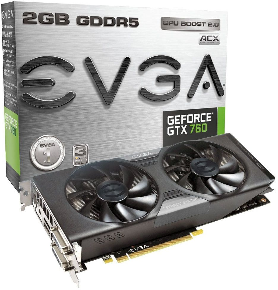 EVGA GeForce GTX760 - SuperClocked- 2GB GDDR5 256bit كرت شاشة