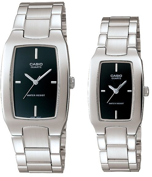 Casio Classic Black Analog Dial Stainless Band His & Hers Couple Watch [MTP/LTP-1165A-1CDF]   Souq - UAE