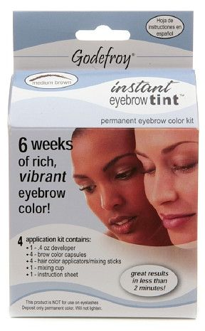 Godefroy Instant Eyebrow Tint Permanent Eyebrow Color Kit Medium ...