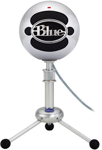 Blue Snowball USB Condenser Microphone ‫(Brushed Aluminum)