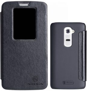 Nillkin V Series LG Optimus G2 D801 D802 D800 D802TA F320 Flip Leather Cover Case-(Black)