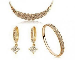 24k real gold jewelry sets Venus AccessoriesTrendyAlwan
