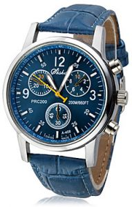 c3060380f93ea Blue Fashion PU Synthetic Leather watch for Kids