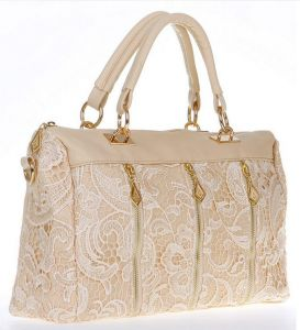 b4461dc8c93d Women s Lady PU (Faux) Handbag Tote Crossbody Shoulder Lace Bag GH9208 Beige