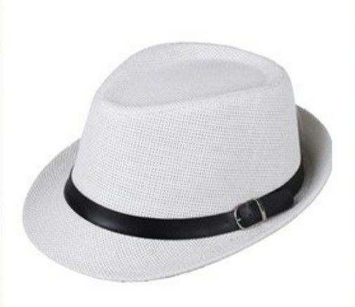 3272e7fb738 Women Men Trendy Unisex Fedora Trilby Gangster Cap Summer Beach Sun ...