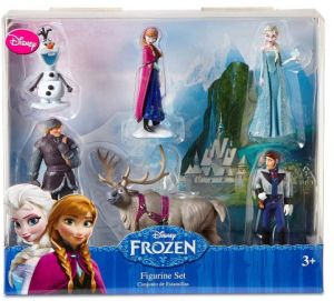 Disney Frozen 6 Pc Figurine Figure Set Sven Hans Anna Elsa Kristoff And Olaf 4a0f2a0c7