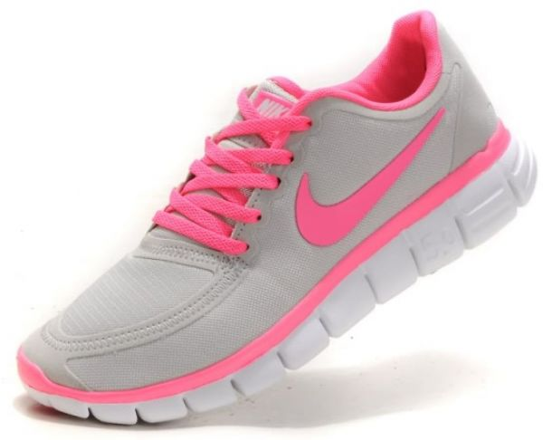 b198fff32ede Nike Free 5.0 V4 Grey Pink Running Women s shoes US SIZE 7