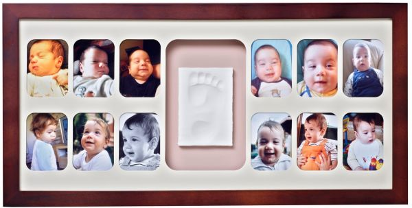 Baby Memory Prints 12 Months Frame Mahogany Bmp061 Do It