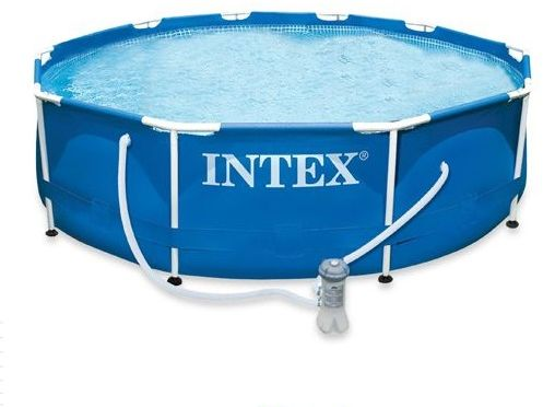 Buy intex 28212 metal frame pool set ksa souq for Piscinas intex baratas