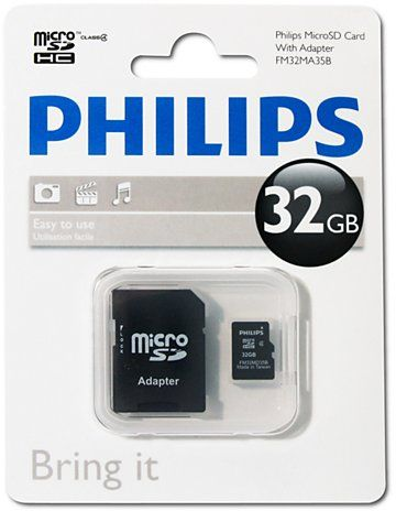 Philips 32GB Micro SD Card Class 4 With Adapter (FM32MA35B)