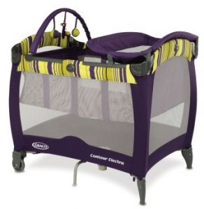 Graco Baby Contour Electra Travel Cot Baby Play Yard - 1882041, Purple