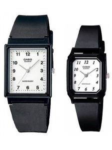 4f52324eba875 Casio His   Her For Unisex White Dial Resin Band Couple Watch - MQ -27-7B LQ-142-7B