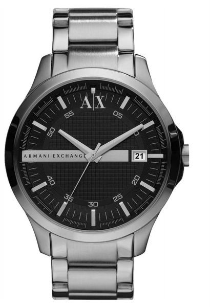 2c82e50436a Armani Exchange Men s Black Dial Stainless Steel Band Watch - AX2103 ...