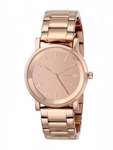 b7285299c DKNY Womens Round Rose Gold Tone Dial Stainless Steel Bracelet Watch  [NY2179]
