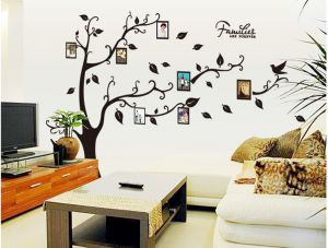 Photo Frames Tree Removable Wall Sticker Decor Mural Decal Home Decoration Frame for Kids Rooms