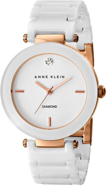 86d271711 Anne Klein Women's AK/1018RGWT Diamond-Accented White Ceramic Bracelet Watch.  by Anne Klein, Watches - Be the first to rate this product