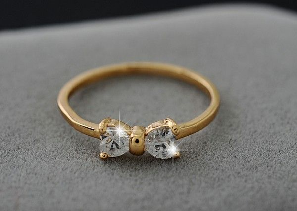tion bow ring cute rings mint products gold love no