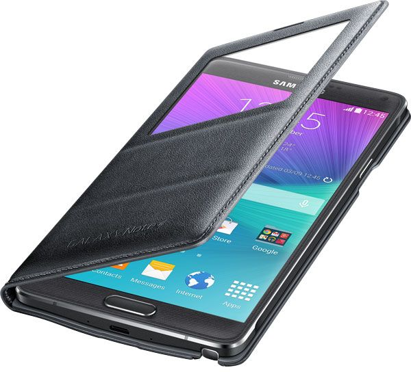 competitive price 96b1b 73c98 Flip Cover S-View Shape for Samsung Galaxy Note 4 - Charcoal Black