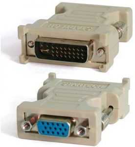 Dvi I M 24 5 Pin To Vga Video Converter Adapter Gold