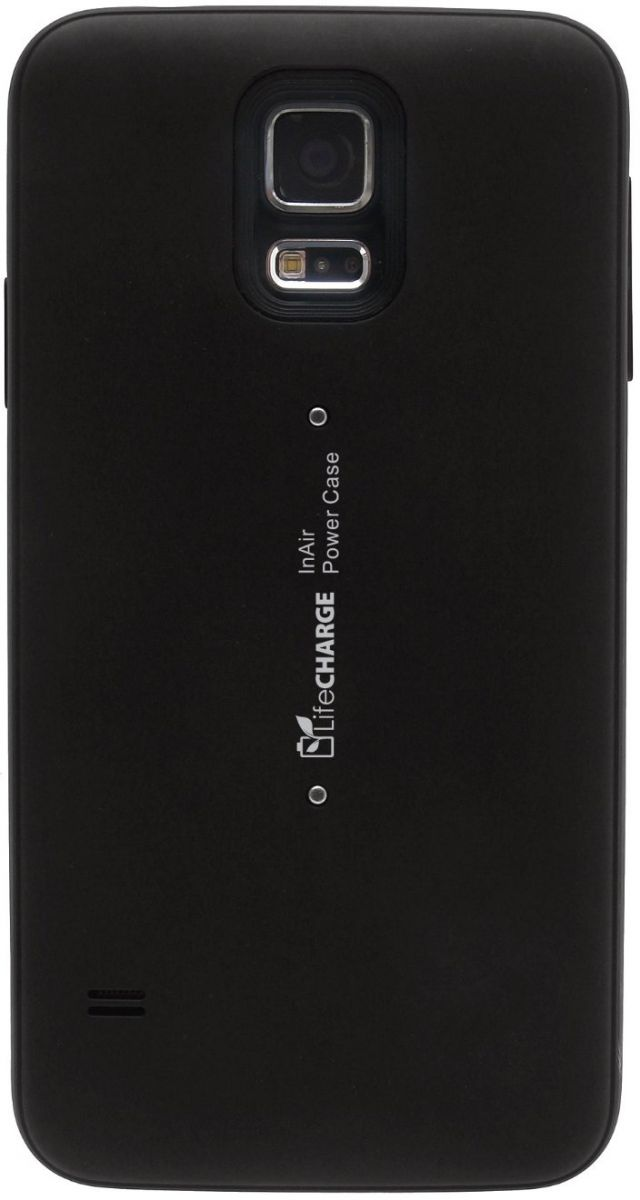 LifeCHARGE LifeCHARGE InAir Samsung S5 Slim Protective Battery Case Cover w/ Wireless Charging-Black
