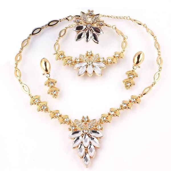 Buy 18k Gold Filled White Sapphire Clear Austrian Crystal Necklace