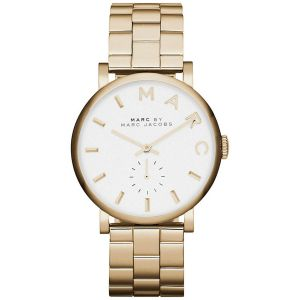 ee9600e85 Marc by Marc Jacobs Baker Women's White Dial Stainless Steel Band Watch -  MBM3243
