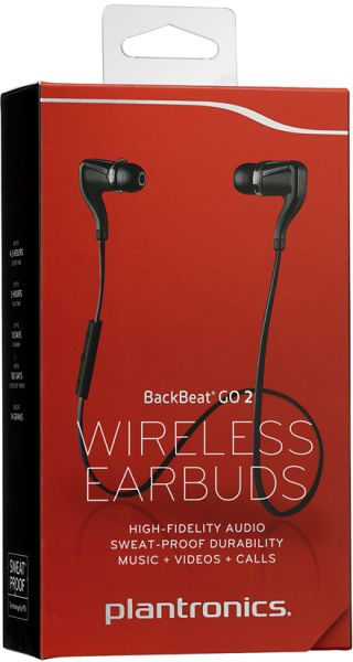 Plantronics Backbeat Go 2 Stereo Bluetooth Headset - Black  a5ca3acf65