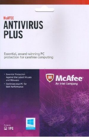 McAfee AntiVirus Plus 1 PC 1 Year Activation Card Download Version