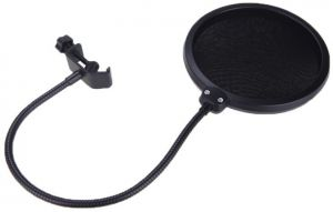 Studio Microphone Mic Pop Filter Wind Screen Mask Shied for Recording ...