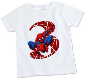 Spiderman 3rd Birthday T Shirt