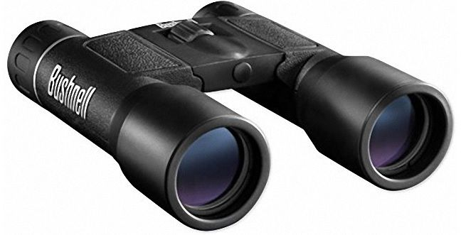 Bushnell Powerview 12x25 Compact Folding Roof Prism Binocular ‫(Black)