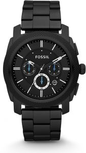 764bedf71 Fossil Machine For Men Black Dial Stainless Steel Band Chronograph Watch -  FS4552