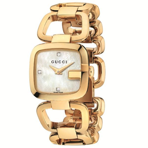 51461598d34 Gucci Women s Mother of Pearl Dial Stainless Steel Gold Band Watch -  YA125513