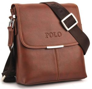 Videng Polo Classic Design Travel Business Bag for Men - Leather, Brown 5a5d294537