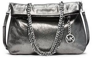 Michael Kors 30F4MLCT3K Lacey Large Tote Bag for Women - Silver 391c9f7427998