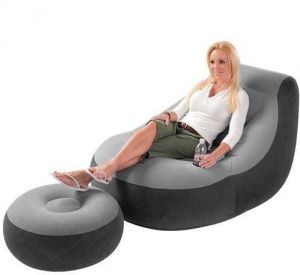 Intex Inflatable Sofa With Footrest Inflatable Chair Flocked [68564]