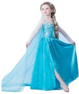 Girls Cosplay Dresses Elsa Anna Frozen with Long Extension 013d0de8f2d3