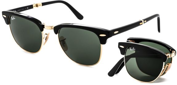 82f75d9fd14 Ray-Ban Folding Clubmaster Unisex Sunglasses - R6 RB2176 901 - 51 ...