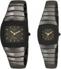 OMAX Set Of 2 Watches for Men Women Black Color (Watch)
