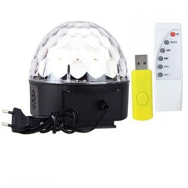 RGB MP3 Magic Crystal Ball LED Music stage light Home Party disco DJ party  USB Disk Remote Control