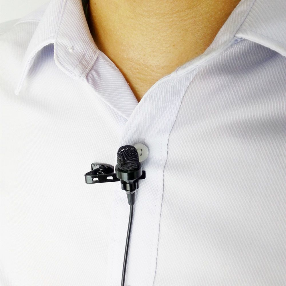Mini USB External Microphone with Collar Clip for GoPro Hero 3 3 plus