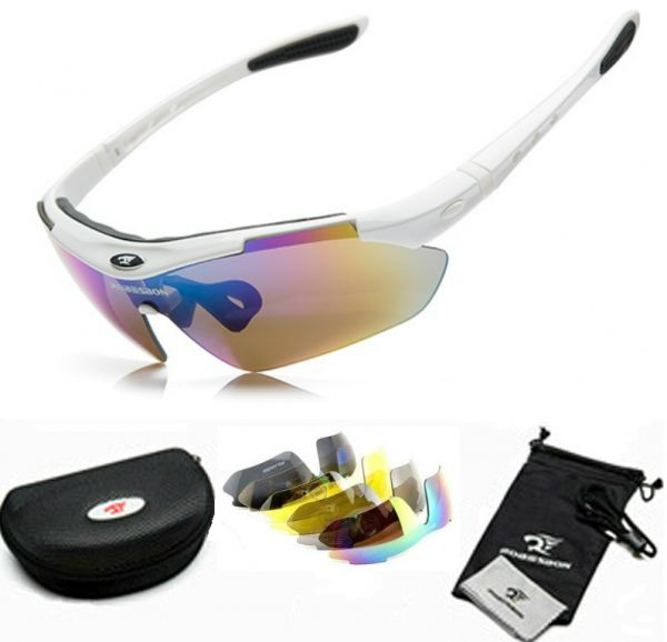 White Cycling Sunglasses  robeson white cycling glasses outdoor sports goggles sunglasses
