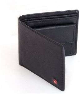 1713a8549c5 Alpine Swiss Mens Leather Bifold Wallet with Coin Pocket Purse Pouch   2  Bill Sections